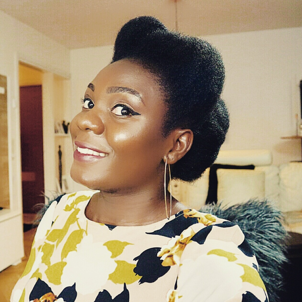 Formal Occasion Hairstyle For Natural Hair.